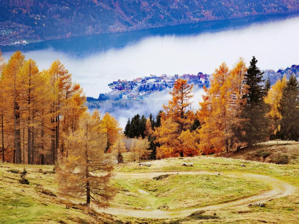 Mountainbikeurlaub Österreich - über die Mautstraße vom Millstätter See auf die Millstätter Alpe fahren