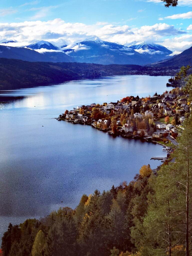 Beeindruckende Österreich Seen: Der Ausblick über Millstatt und den Millstätter See