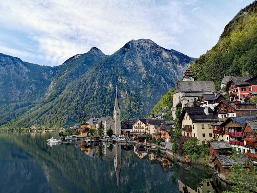 Eines der bekanntesten Fotomotive in Österreich - der Ortskern von Hallstatt am Hallstätter See