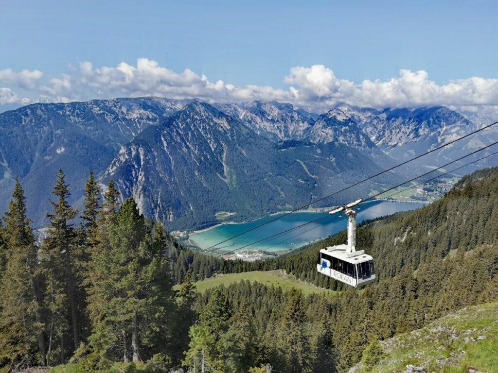 Tirol Urlaub am Achensee - das ist der Blick vom Rofan ins Karwendel
