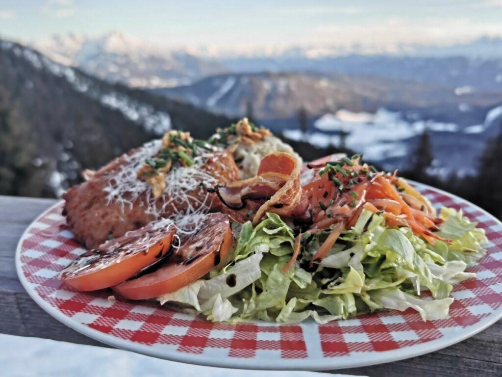 Sehr gut auf einer Hütte essen? Im Tirol Urlaub habe ich das auf der Wettersteinhütte genossen