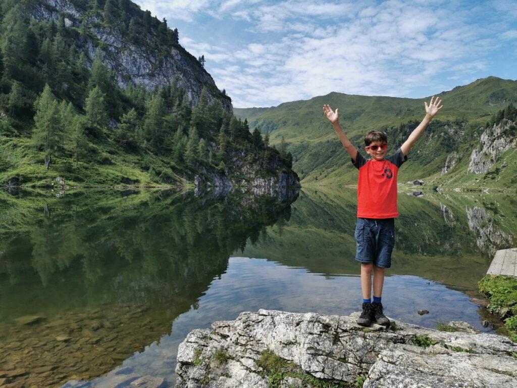 Wanderurlaub Österreich - an die schönen Bergseen im Sommer wandern