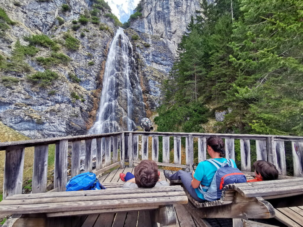 Wasserfälle Österreich - der Dalfazer Wasserfall am Achensee